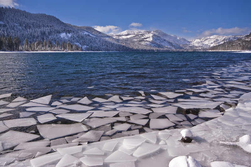 Cracked Ice, Donner Lake, Truckee CA