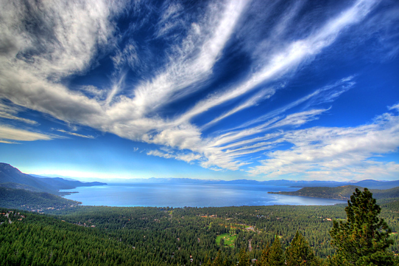 Clouds Over Lake Tahoe